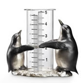Penguin Pair Wide Mouth Rain Gauge