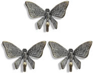 Butterfly Wall/Key Hooks, Set of 3