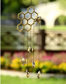 Bees and Honeycomb Windchime