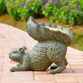 Bushy Tailed Squirrel Birdfeeder