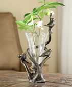 Bird Trio and Branch Budvase Holders