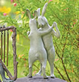 First Dance Rabbit Garden Sculpture