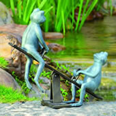 Playground Days Frogs Garden Sculpture