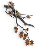 Bird and Autumn Leaves Wall Plaque