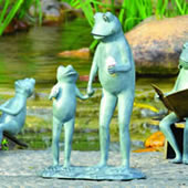 Summertime Treat Frog Garden Sculpture