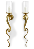 Golden Vine Wall Candleholders (Set of 2)