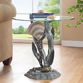 Shells and Seagrass End Table