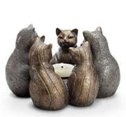 Cat Gathering Candleholder