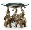 Elephant Trio End Table