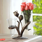 Tulip Double Budvase Holder