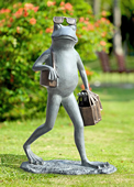 Suave Shopper Frog Garden Sculpture
