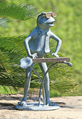 Jazzy Keyboard Frog Garden Sculpture