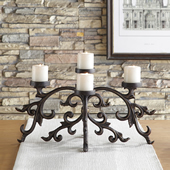 Majorca Scroll Pillar Candelabra