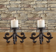Majorca Scroll Pillar Candleholder