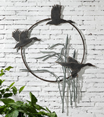 Duck Trio Garden Wall Hanging