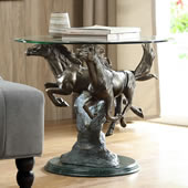 Running Horse Pair End Table