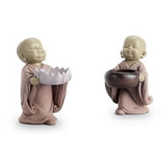 Buddhist Monk Ring Holders, Set of 2