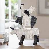 Farmhouse Trio Desktop D�cor (cow/pig/rooster)