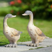 Darling Duck Pair Garden Sculpture