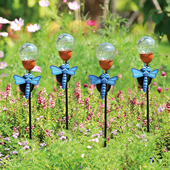 Dragonfly LED Light Garden Stakes, Set of 4