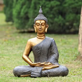 Thoughtful Buddha Garden Sculpture