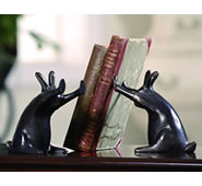 Rabbits Pushing Books Bookends (Pair)