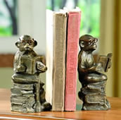 Reading Monkey Bookends Pair