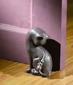Cat & Mouse Doorstop