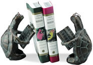 Scholarly Turtle Bookends Pair