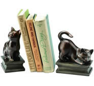 Playing Cat Bookends Pair