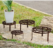 Round Nested Plant Stands, Set of 4