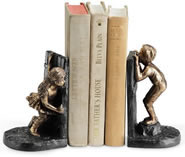 Boy and Girl Hide and Seek Bookends