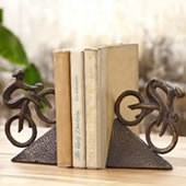 Racing Bicyclist Bookends