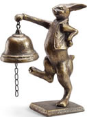 Skipping Bunny Table Bell
