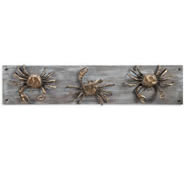 Crabs on Wood Wall Hook