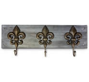 Fleur De Lis on Wood Wall Hook