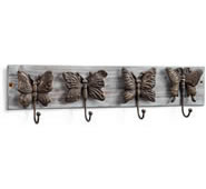 Butterflies on Wood Wall Hook