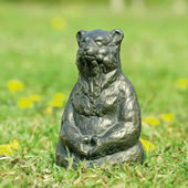 Meditating Yoga Bear Garden Sculpture