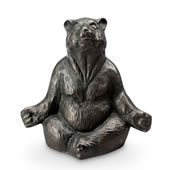 Contented Yoga Bear Garden Sculpture