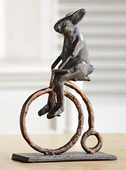 Rabbit on Antique Bicycle Statue