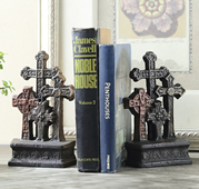 Cross Bookends Pair