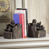 Reading Friends Cat/Mouse Bookends Pair