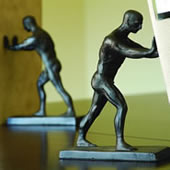 Male Nude Bookends (Pair)