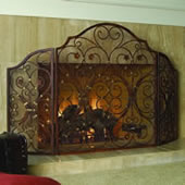 Provincial Triple Panel Fireplace Screen