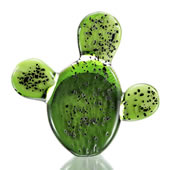Art Glass Prickly Pear Cactus Figurine