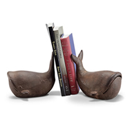 Whale Bookends Pair