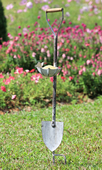 Butterfly and Flower Shovel Birdfeeder on Stake