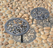 Antiqued Plant Stands- Set of 2