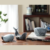 Whale Jewelry Boxes, Set of 2