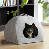 Portable Pet Bed with Cat Head